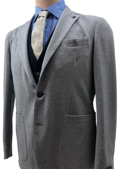 Angelo Nardelli - Jersey Jacket - Light Gray