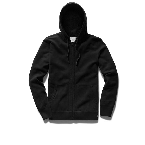 RC Knit Lt Wt Terry Full Zip Hoodie -Black
