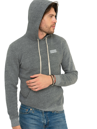 Sol Angeles- Good Times Pullover Hoodie-Heather Grey