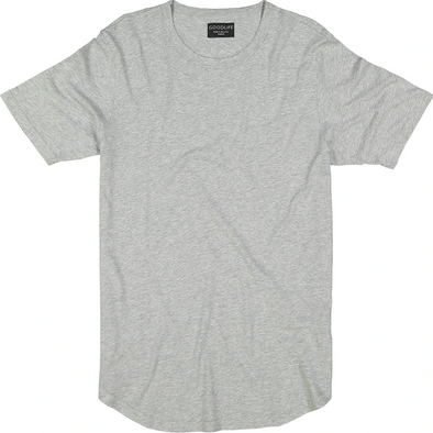 Goodlife - Basic Scalloped Crewneck - Light Heather Grey