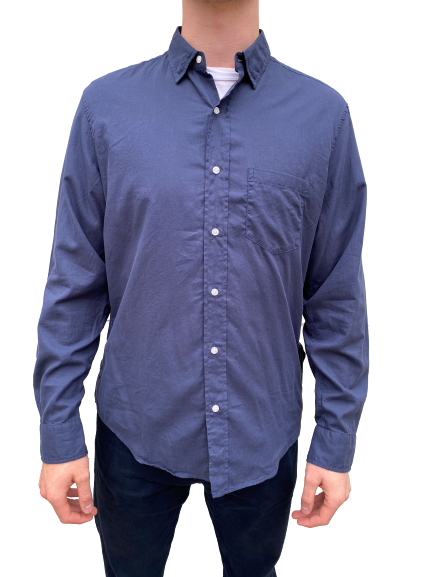 Frank & Eileen- Don L/S Button down - Navy