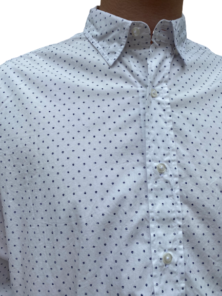 Frank & Eileen-Finbar - Navy Faded Dots
