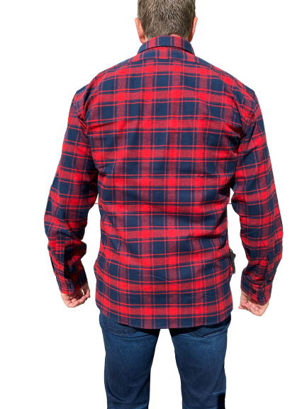Kovalum- River Cotton Flannel - Blue and Red Check