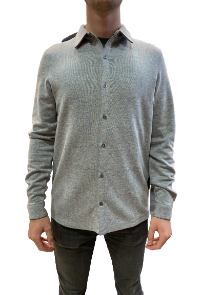 Benson- Sunday Knit Button Up - L. Grey