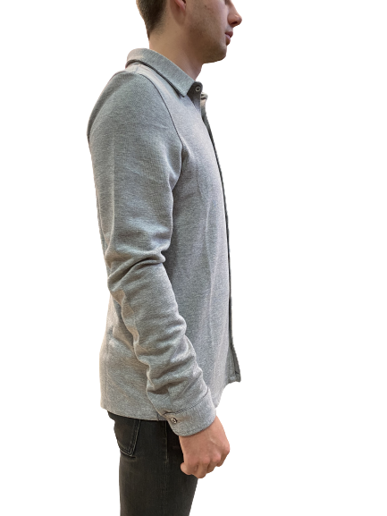 Sunday Knit Button Up - L. Grey