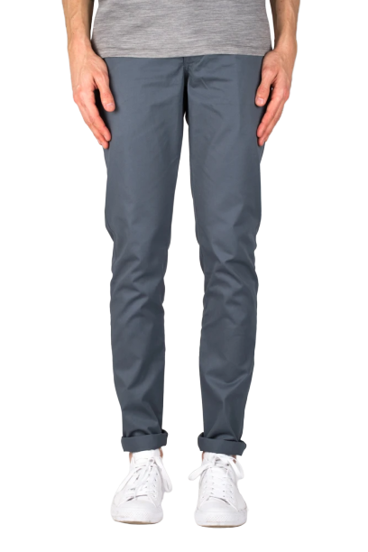 Keenan Slim Chino Pant - Grey Blue