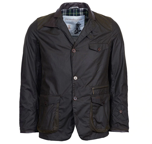 Barbour Icons Beacon Sports Waxed Jacket - Olive