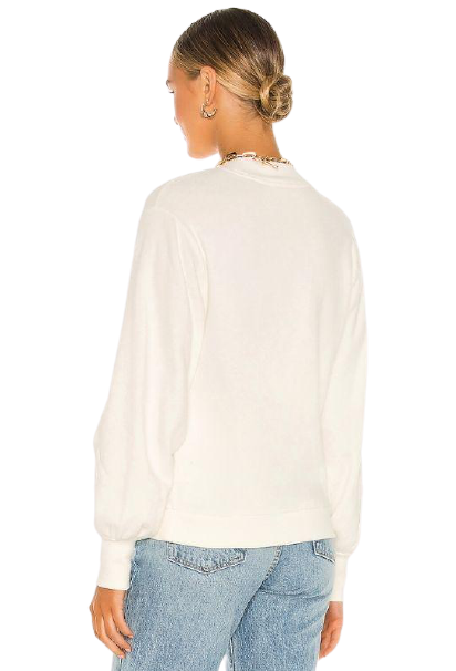 Nation Suky Mock Neck Sweatshirt- Off White