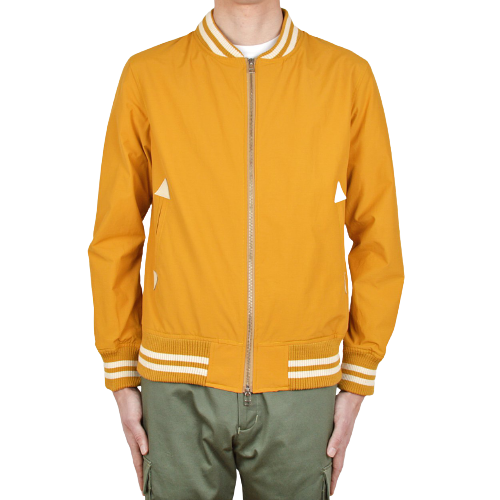 Water Repellent Bomber Jacket - Tumeric