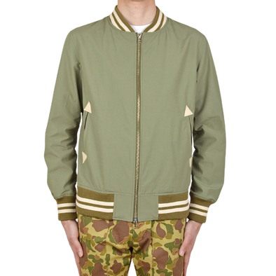Water Repellent Bomber Jacket - Sage
