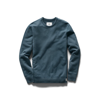 RC- Knit Mid Wt Terry LS Crew Neck -Pacific