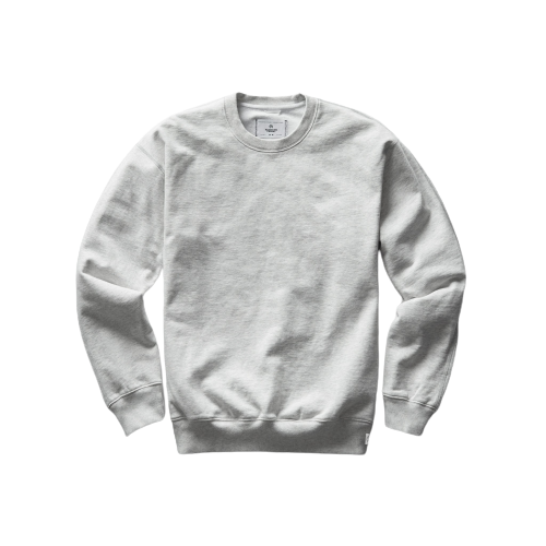 RC - Knit Mid Wt Terry Relaxed Fit Crewneck - H.Ash