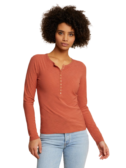 Nation Ltd- Samara Not So Basic Tee- Tawny Rose