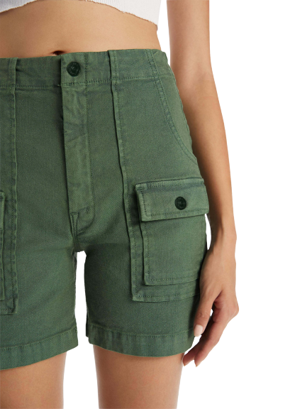 Mother Rambler Patch Pocket Short - Army