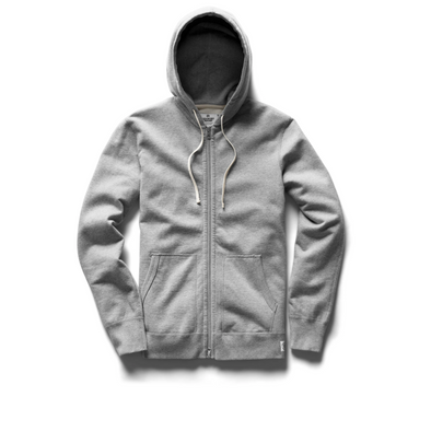 RC - Knit Lt Wt Terry Full Zip Hoodie - Grey