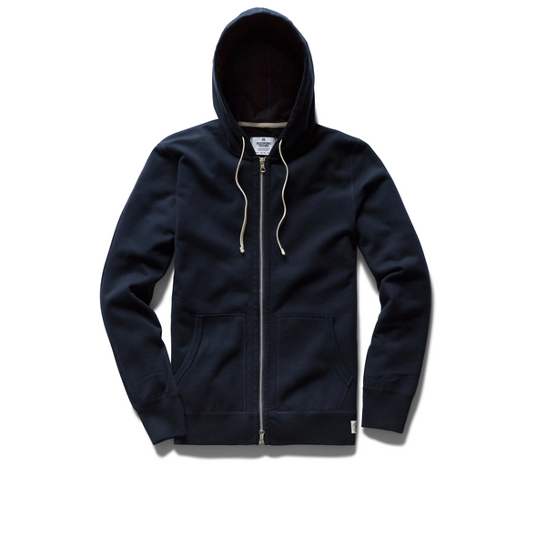 RC Knit Lt Wt Terry Full Zip Hoodie - Navy RC