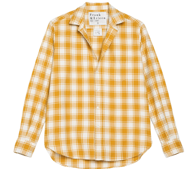 Frank & Eileen- Eileen Button Down- Mustard Plaid Twill