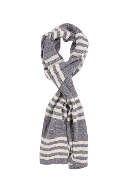 Save Khaki United- Striped Scarf - Ash