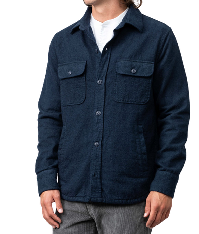 Save Khaki United- Chamois CPO Jacket - Navy