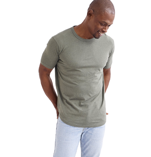 Goodlife -  Overdyed Supima Scallop Crew - Laurel Wreath