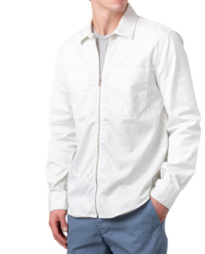 S.K.U - Herringbone Overshirt - Salt