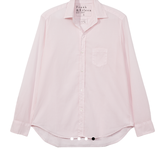 F&E Eileen Woven Button Up- Powder Pink