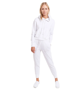 Goodlife Women's Rib Cuff Jogger- White