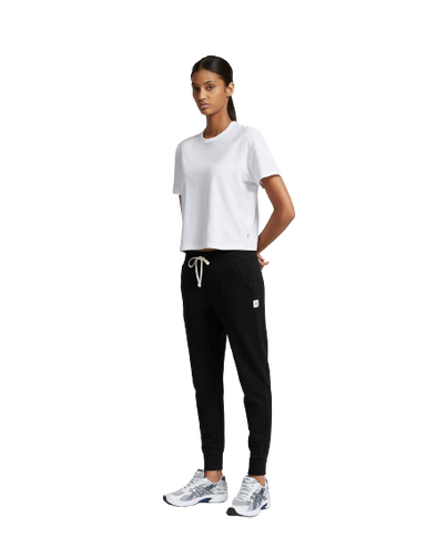 RC Women's Knit Pima Terry Slim Sweatpant- Black