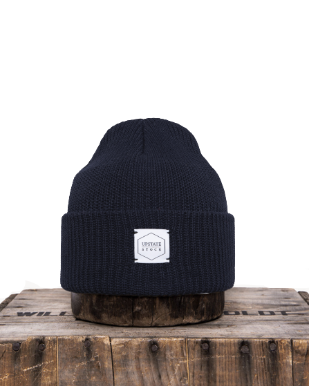 Upstate Stock- Eco Cotton Knit Watchcap Navy