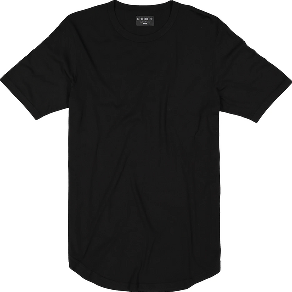 Goodlife - Basic Scalloped Crewneck - Black