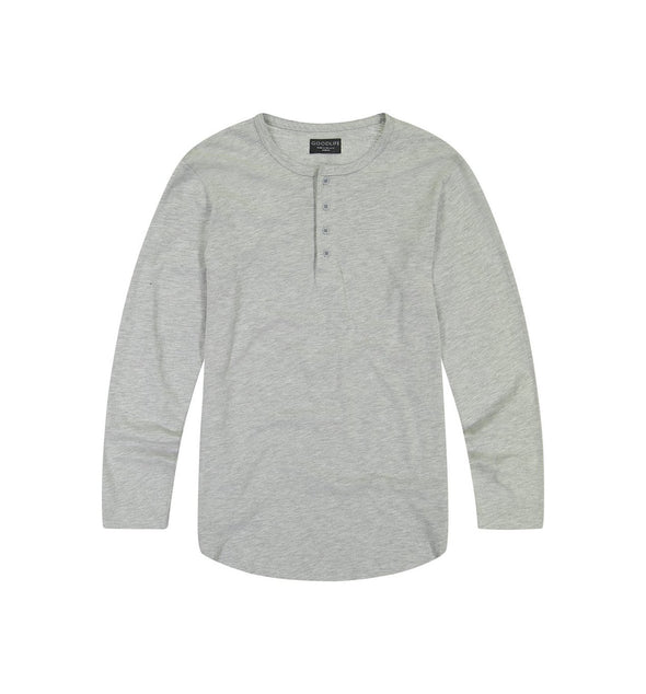 Goodlife - Slub Scallop Henley - Heather Grey
