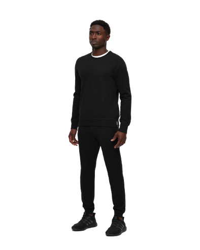 Slim Sweatpant- Midweight Terry - Black