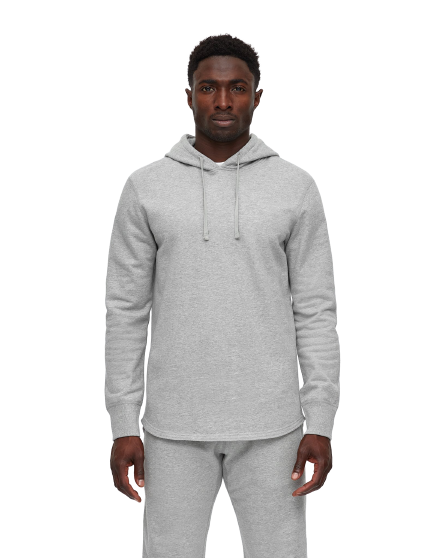 RC- Mid Wt. Scalloped Hoody-H.Grey