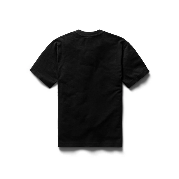 Knit Mid.Wt relaxed T-shirt-Black