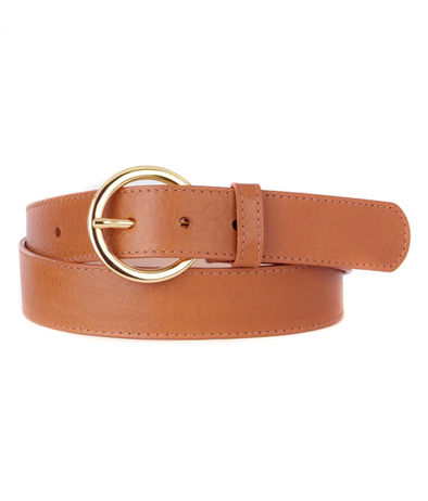 Brave- Zaltana Belt- Vachetta Tan Gold Hardware
