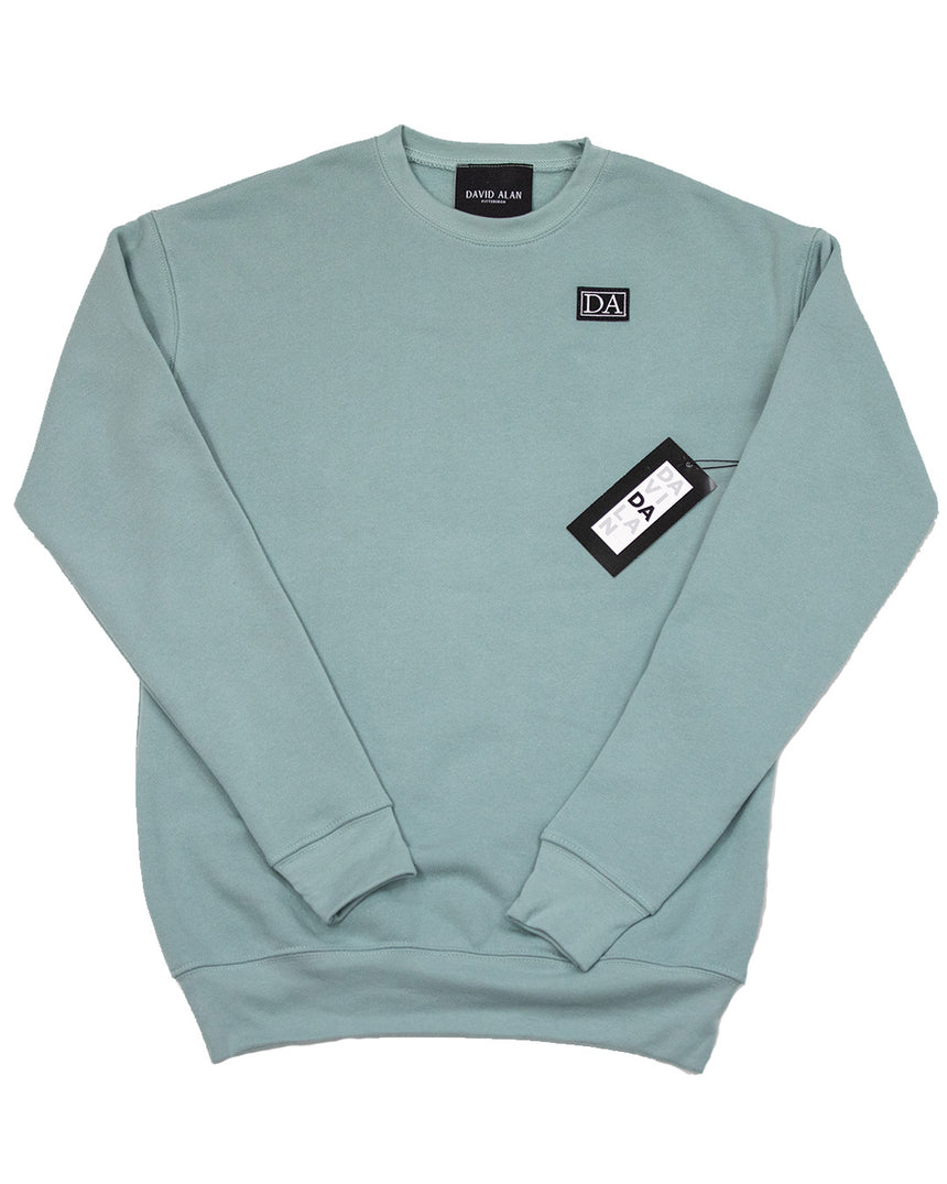 Mint Drop Shoulder Long Sleeve Crew Neck