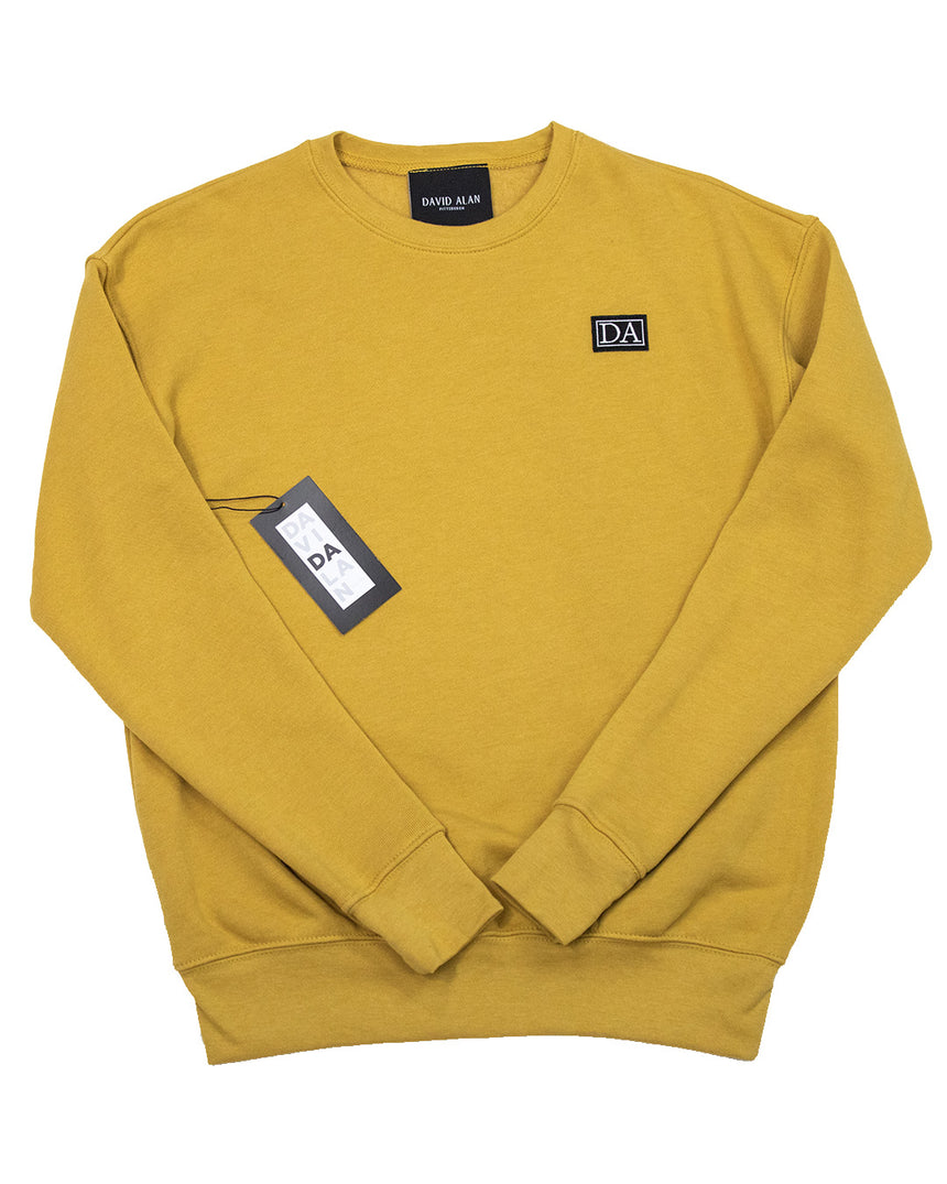 Mustard Drop Shoulder Long Sleeve Crew Neck