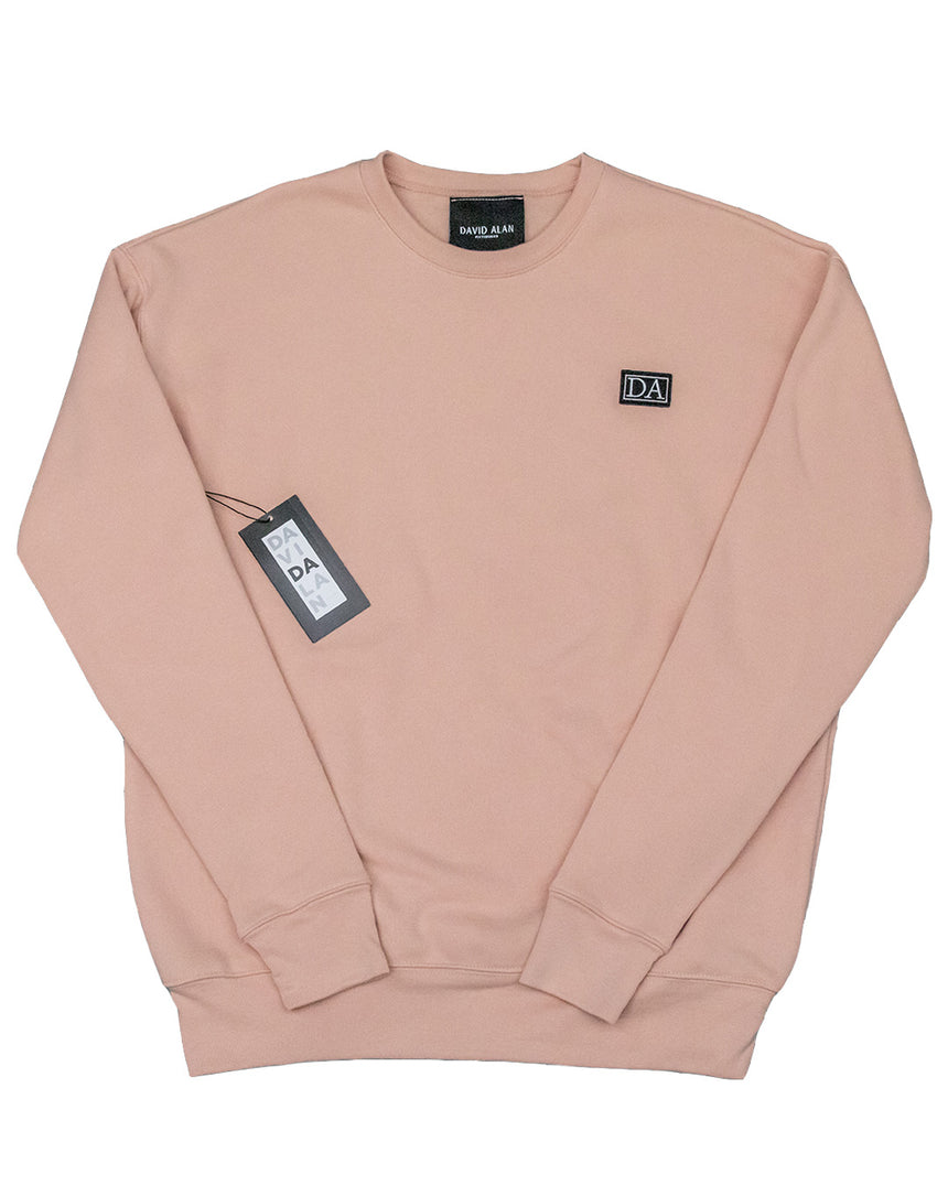Peach Drop Shoulder Long Sleeve Crew Neck