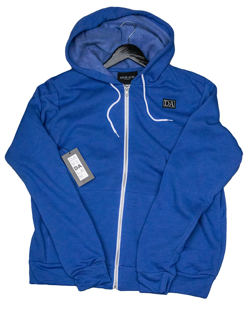 True Royal Uni-sex Sponge Fleece Full-Zip Hoodie