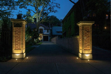 How to Install Outdoor Lights on Brick
