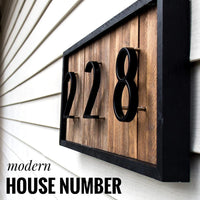 125mm Big Modern House Number Hotel Home Door Number Outdoor Address #0-9 - Avenila - Interior Lighting, Design & More