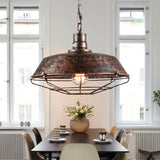 1x Industrial Vintage Metal Cage Hanging Ceiling Pendant Light - Avenila - Interior Lighting, Design & More