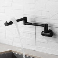 360 Degree Rotating Black Wall Mounted Faucet - Avenila - Interior Lighting, Design & More