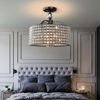 42CM Chrome & Black Bedroom Chandelier - Avenila - Interior Lighting, Design & More