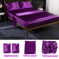 4Pcs Romantic Silk Luxury Bedding Set - Avenila - Interior Lighting, Design & More