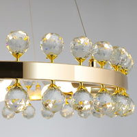 50, 60, 80cm Sofrey Modern Crystal Gold Ring Living Room Chandelier - Avenila - Interior Lighting, Design & More