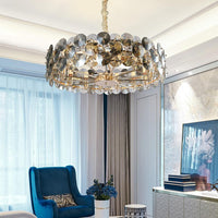 50-80cm Luxury Smoke Gray Crystal Chandelier - Avenila - Interior Lighting, Design & More
