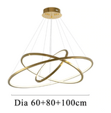 Modern LED Hotel Gold & Silver Ring Chandelier - Avenila Selects