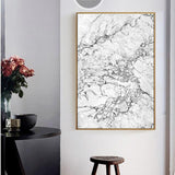 Abstract Gray Marble Vein Canvas Painting Poster Print Picture Wallpaper Living Room Home Wall Art Decoration Can Be Customized - Avenila - Interior Lighting, Design & More