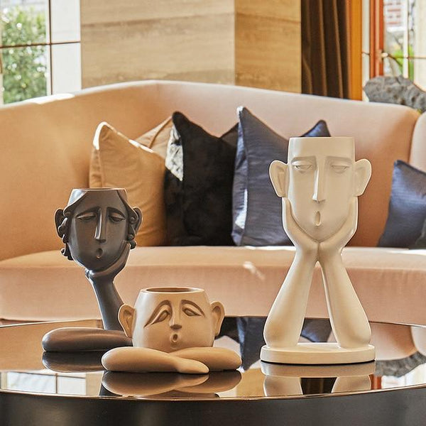 Abstract Modern Face Statues for Interior Design - Avenila - Interior Lighting, Design & More